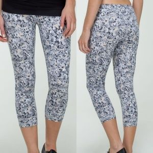 Lululemon Wunder Under Crop Not So Petite Fleur